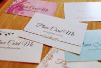 The Definitive Guide To Wedding Place Cards | Place Card Me with regard to Michaels Place Card Template