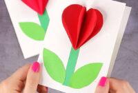 The Marvelous 3D Heart Flower Card (With Flower Template regarding 3D Heart Pop Up Card Template Pdf
