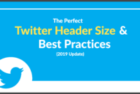 The Perfect Twitter Header Size & Best Practices (2020 Update) with Twitter Banner Template Psd