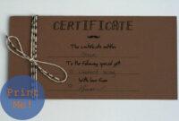 The Petit Cadeau: Printable Gift Certificates For Men regarding Homemade Gift Certificate Template