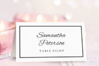 The Place Card – Forza.mbiconsultingltd inside Christmas Table Place Cards Template