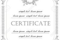 The Template For The Certificate And License In Vintage Classic-Style.. inside Certificate Of License Template