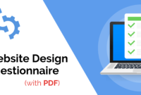 The Ultimate Website Design Questionnaire (With Pdf Template with regard to Questionnaire Design Template Word