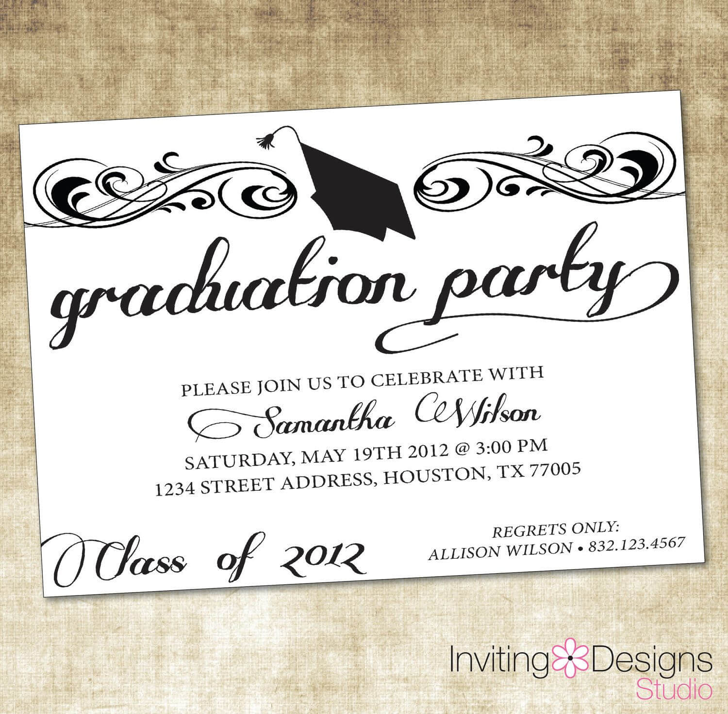 Themes College Graduation Invitations Free Printable As Well For Graduation Party Invitation Templates Free Word