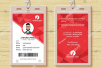 This Id Card Template Perfect For Any Types Of Agency inside Work Id Card Template