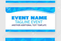Three Style Light Blue Triangle Blank Template Event Banner Or.. pertaining to Event Banner Template