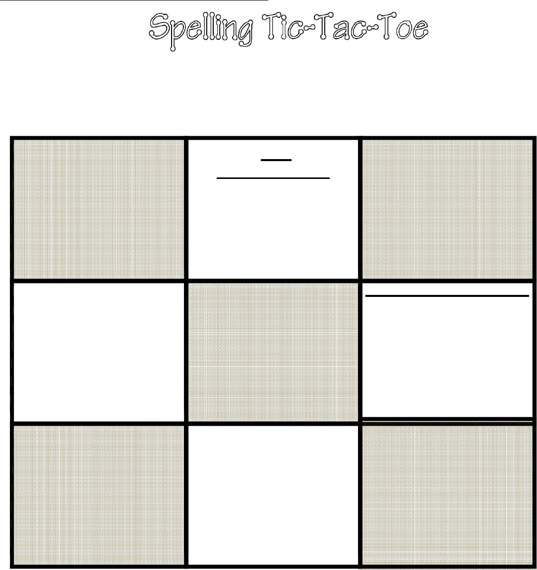Tic Tac Toe Template In Word And Pdf Formats In Tic Tac Toe Template Word
