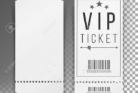 Ticket Template Set Vector. Blank Theater, Cinema, Train, Football.. throughout Blank Train Ticket Template