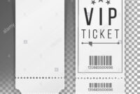 Ticket Template Set Vector. Blank Theater, Cinema, Train inside Blank Train Ticket Template