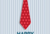 Tie Father's Day Card (Quarter-Fold) with regard to Blank Quarter Fold Card Template