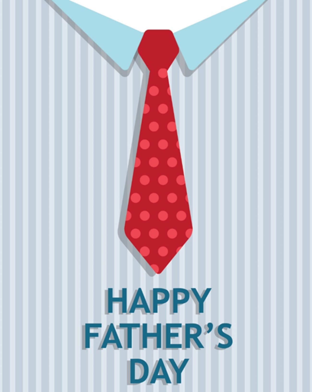Tie Father's Day Card (Quarter Fold) With Regard To Blank Quarter Fold Card Template