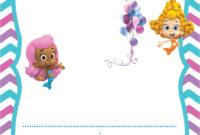 Tips: Pretty Bubble Guppies Invitations Design For Your regarding Bubble Guppies Birthday Banner Template
