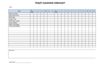 Toilet Cleaning Checklist – Download This Printable Toilet within Cleaning Report Template