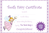 Tooth Fairy Certificate More | Tooth Fairy Certificate regarding Free Tooth Fairy Certificate Template