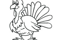 Top 24 Terrific Coloring Pages Printable Thanksgiving Turkey intended for Blank Turkey Template