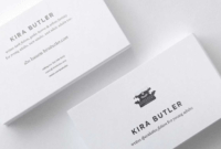 Top 32 Best Business Card Designs & Templates regarding Front And Back Business Card Template Word