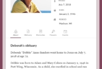Top Free Obituary Templates | Ever Loved Within Fill In The Blank Obituary Template