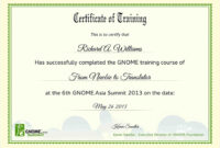 Training Certificate Sample – Forza.mbiconsultingltd in Free Training Completion Certificate Templates