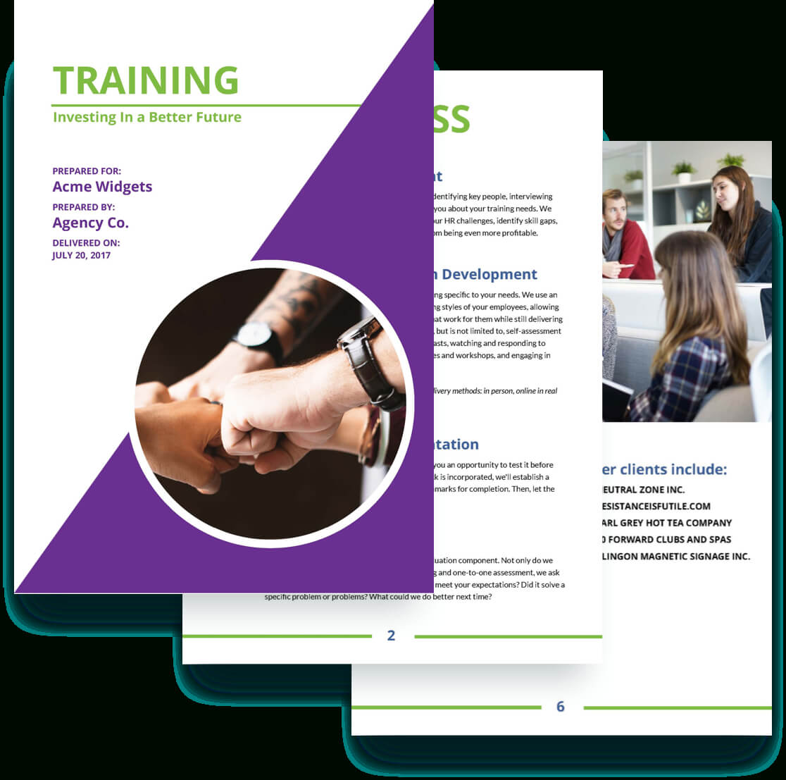 Training Proposal Template | Proposal Templates, Business In Training Brochure Template
