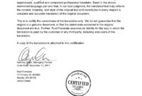 Translation Services inside Uscis Birth Certificate Translation Template