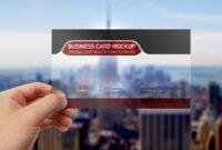 Translucent Plastic Business Card Mockup | Transparent pertaining to Transparent Business Cards Template