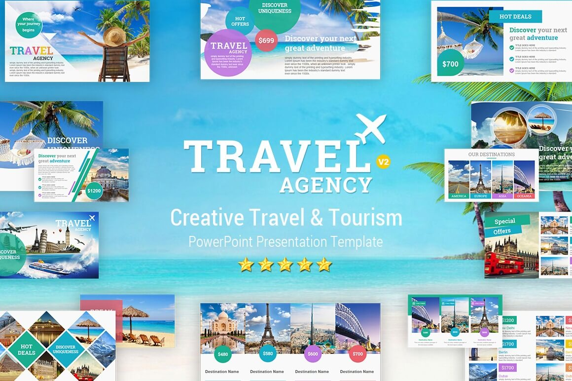 Travel And Tourism Powerpoint Presentation Template - Yekpix In Tourism Powerpoint Template