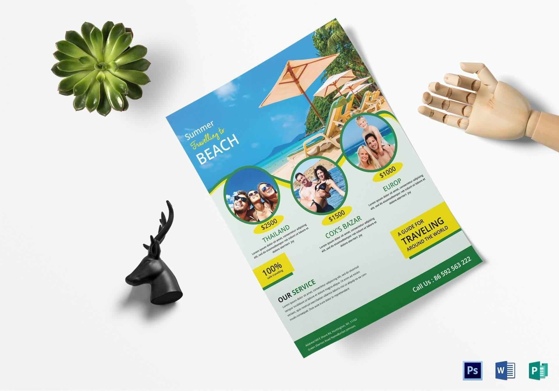Travel Brochure Design – Tourism Company And Tourism With Regard To Travel Brochure Template Ks2