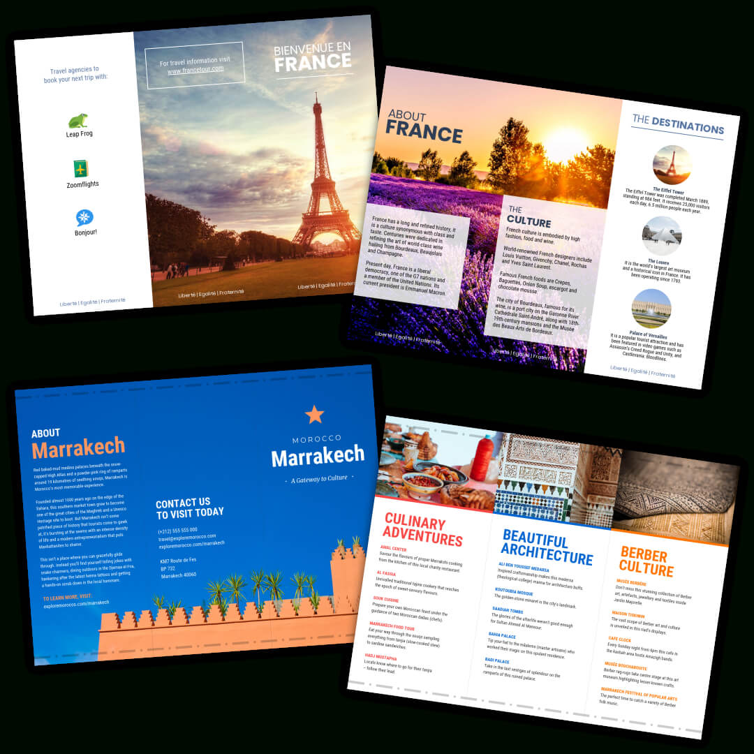 Travel Brochure Templates – Make A Travel Brochure – Venngage With Regard To Travel Brochure Template For Students