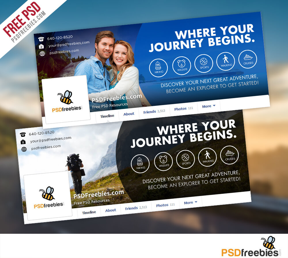 Travel Facebook Timeline Covers Free Psd Templates In Facebook Banner Template Psd