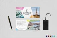 Travel Gift Certificate Template regarding Indesign Gift Certificate Template