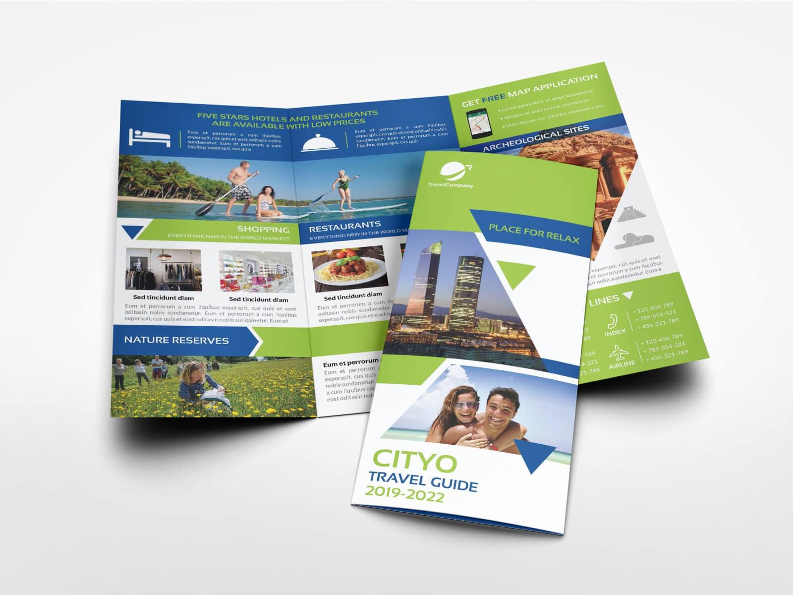 Travel Guide Tri Fold Brochure Templateowpictures On For Travel Guide Brochure Template