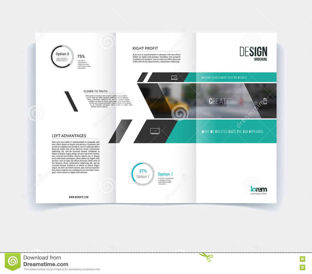 Tri Fold Brochure Template Layout, Cover Design, Flyer In A4 Inside Engineering Brochure Templates