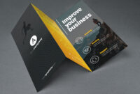 Tri Fold Brochure Template Psd With Brochure Psd Template 3 Fold