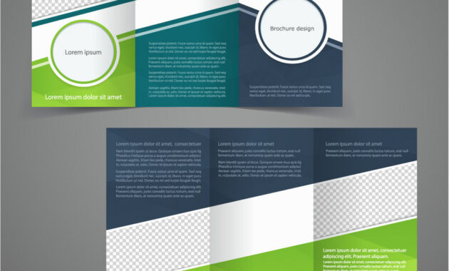 Tri-Fold Business Brochure Template Two-Sided in One Sided Brochure Template