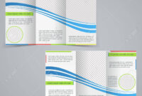 Tri-Fold Business Brochure Template, Vector Blue Design Flyer.. throughout Free Tri Fold Business Brochure Templates