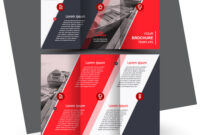 Tri-Fold Red Brochure Design Template intended for Tri Fold Brochure Template Illustrator Free