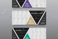 Triangle Banner Design Templates. Web Banner Design Vector inside Website Banner Design Templates
