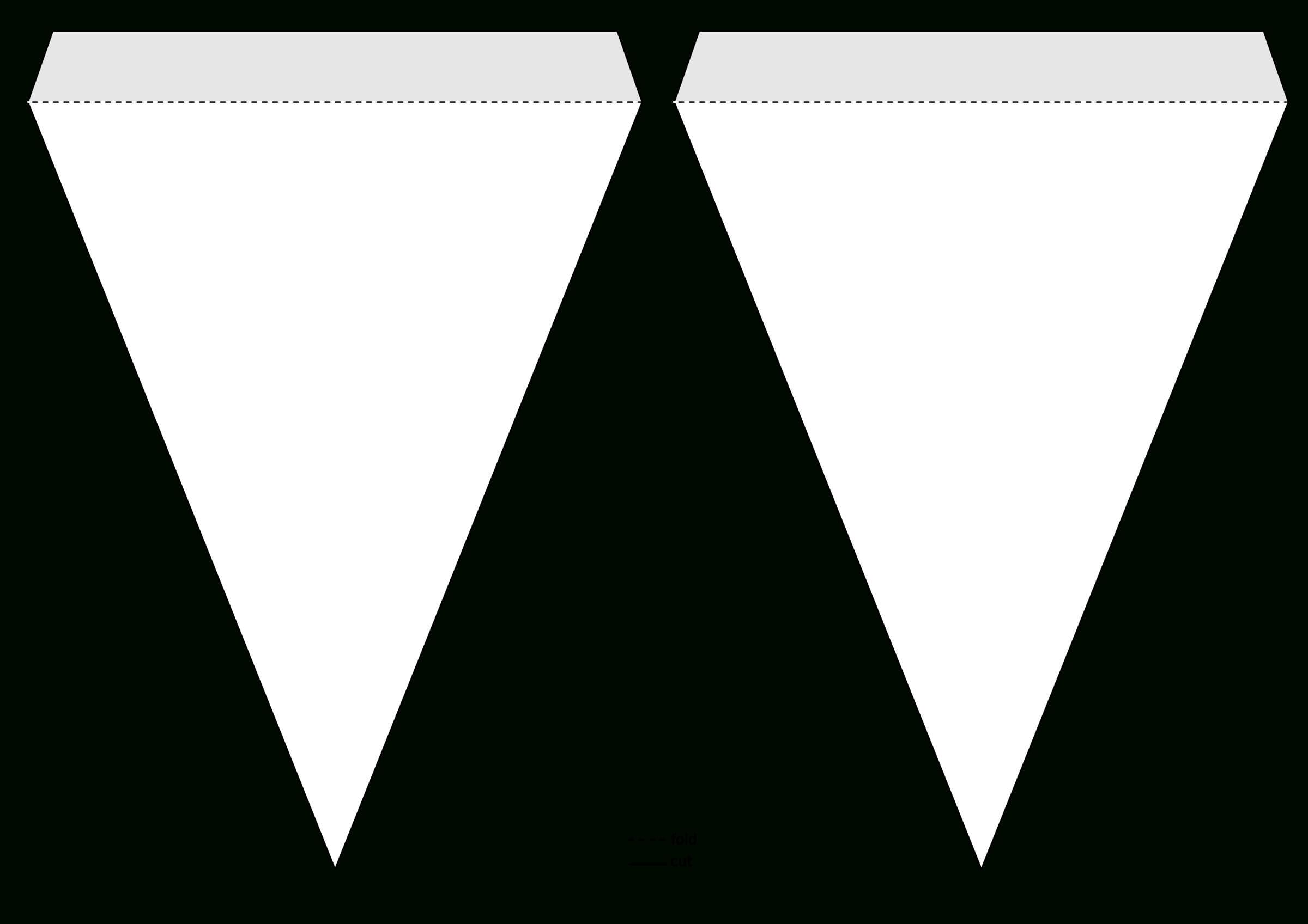 Triangle Pennant Banner Template@grafixgrrl, This Is A For Triangle Pennant Banner Template