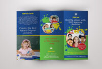 Trifold Brochure For School -V389Template Shop On for Play School Brochure Templates