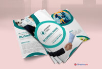 Trifold Business Brochure Template – Free Vector – Graphics Pic with Free Tri Fold Business Brochure Templates