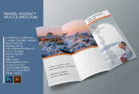 Trifold Travel Agency Brochure Templates A4 | Brochure regarding Travel And Tourism Brochure Templates Free