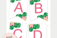 Tropical Printable Banner | Free Printable Banner, Printable pertaining to Free Letter Templates For Banners