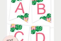 Tropical Printable Banner | Free Printable Banner, Printable with Printable Letter Templates For Banners