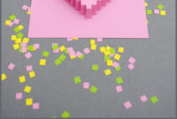 True Blue Me & You: Diys For Creatives • Diy Pixel-Y Popup within Pixel Heart Pop Up Card Template