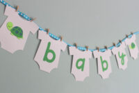 Turtle Baby Shower Banner, Turtle Baby Shower Decorations intended for Diy Baby Shower Banner Template