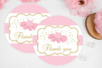 Tutu Excited Thank You Tag Template Printable Baby Shower inside Thank You Card Template For Baby Shower