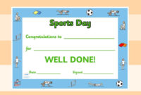Twinkl Resources >> Editable Sports Day Award Certificates For Sports Day Certificate Templates Free