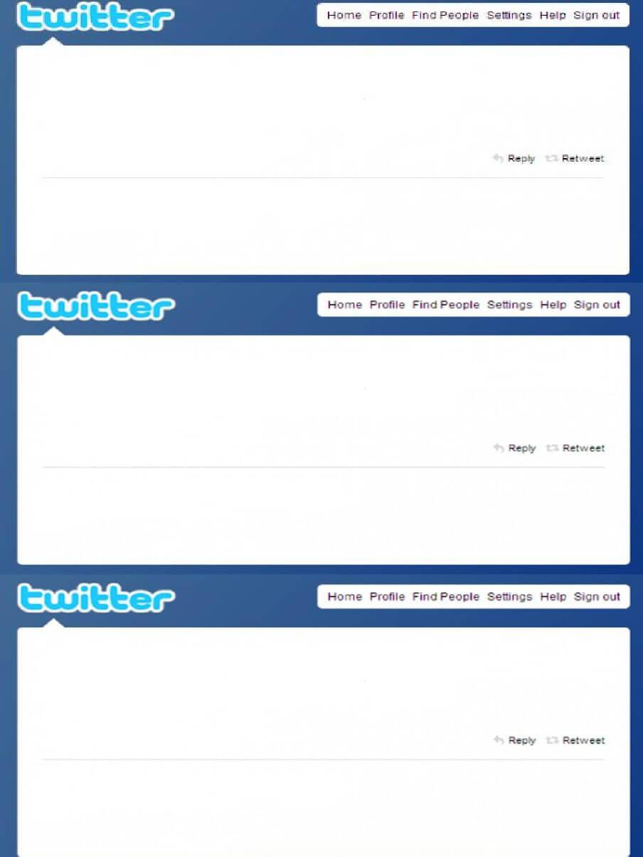 Twitter Tweet Feed Template   Scribd   Find People Regarding Blank Twitter Profile Template