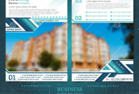 Two Sided Brochure Or Flayer Template Design With One Inside One Sided Brochure Template