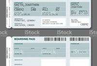 Two Simple Generic Airport Boarding Pass Icons. One Has regarding Blank Train Ticket Template